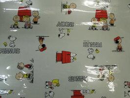 当店4番人気テーブルクロススヌーピーフレンズ柄ビニールスヌーピー柄テーブルクロス120cm巾10cm単位カットメール便は1.5m(個数15)まで対応可能