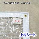 ビニールカーテン 防虫 透明 防炎 0.3mm厚 【幅200-295cmx高さ255-275cm】