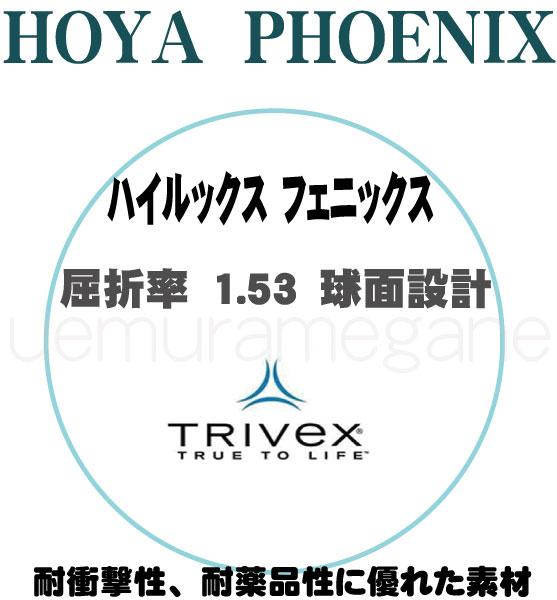 アイガード用 TRIVEX素材レンズホヤ ハイルックス フェニックス2枚1組