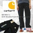 Carhartt  カーハート B01 Men's Double-Front Work Dungaree ダブルニーダックペインターパンツ 【ブラック】 【あす楽対応】