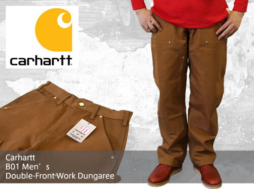 Carhartt カーハート B01 Men's Double-Front Work Dungaree ダブルニーダックペインターパン...