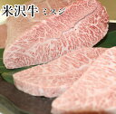米沢牛 焼肉 ミスジ 500g 米沢牛入りハンバーグ付き 送...