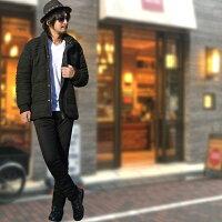 メンズジャケットブルゾン中綿ニットオルティガ編み込みニットジャケットハイネックボリュームカジュアルビターお兄サロン美容師ストリートキレイメホワイトネイビーブラック大きいサイズ