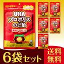 UHA味覚糖 プロポリスのど飴 6袋セット