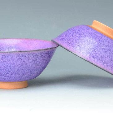 【 送料無料 】 京焼 清水焼 京 焼き 京焼き 夫婦茶碗 組飯碗 2客セット 紙箱入り ご飯茶碗 紫式部 むらさきしきぶ