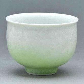 清水燒宋慧喬燒杯茶心理茶杯花水晶 (白綠) 是 kesshō (shiroji Midori) § 清水燒宋慧喬潔具禮品時尚杯茶杯宇治茶