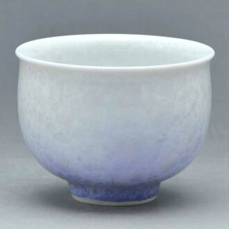 清水燒宋慧喬燒杯茶心理茶杯花晶體 (紫色白色) 是 kesshō (shiroji 紫色) § 清水燒宋慧喬陶器禮品時尚杯茶杯宇治茶