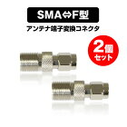 【メール便送料無料】SMAF型アンテナ端子変換コネクタアダプターテレビ接続プラグ2個セット
