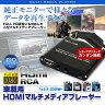 マルチ メディアプレーヤー 車載用 HDMI フルHD ISO対応 純正モニター シガーアダプター 動画再生 SD USB 様々なファイルに対応 ISO AVI MP 【あす楽対応】