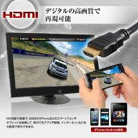オンダッシュモニター10.1インチHDMI接続WSVGALED液晶RCAスピーカー内臓FMトランスミッターUSB給電可能iPhoneスマートフォンシガーアダプター【レビュー記入で特別価格】
