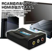 HDMI変換アナログRCAコンバーター【レビュー記入で特価】純正モニタースマホを接続【あす楽対応】02P02Mar14