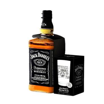 ジャックダニエル ブラック Old No.7 40% 1750ml 正規 大容量ハイボールタンブラー505ml付き (バーボン テネシーウイスキー)