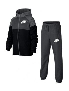バスケットセットアップ ジュニア キッズ ウェア ナイキ Nike YTH Winger Woven Track Suit GS Blk/D.Gry ランニング トレーニング 【BOY'S】 キッズ アパレル