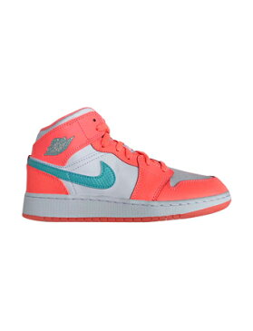 バスケットシューズ ジュニア キッズ バッシュ スニーカー ナイキ Nike Air Jordan 1 Mid GG GS C.Pink/P.Grn ストリート 【GS】キッズ