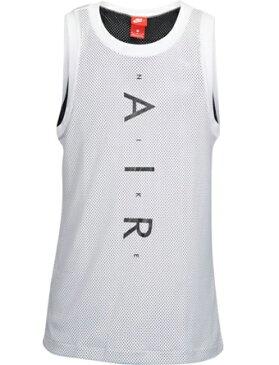 バスケットノースリーブ タンクトップ ウェア ナイキ Nike Air Knit Tank Wht/Blk ランニング トレーニング ストリート 【MEN'S】