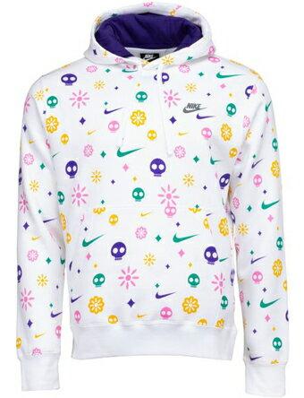 メンズウェア, ゲームシャツ  Nike Nike Day Of The Dead Club Pullover Hoodie WhiteCourt Purple MENS