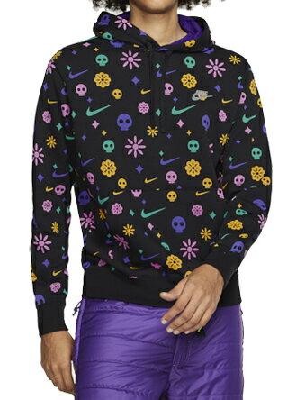 メンズウェア, ゲームシャツ  Nike Nike Day Of The Dead Club Pullover Hoodie BlkCourt Purple MENS