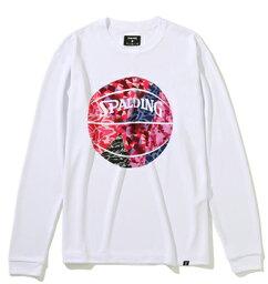 バスケットTシャツ ウェア スポルディング Spalding ロングスリーブTシャツ ミックスカモボール WhtCamoPink ストリート 【MEN'S】