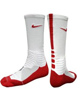 籃球短襪服裝船員短襪超級精英耐吉Nike Socks HyperElite BB Crew Wht/Red