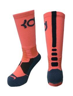 籃球短襪服裝船員短襪凱賓杜蘭特超級精英耐吉Nike Socks KD HyperElite BasketBall Crew B.Mango/L.Blu/S.Blu