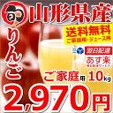 【予約】りんご 訳あり サンふじ 10kg (ご家庭用/25...