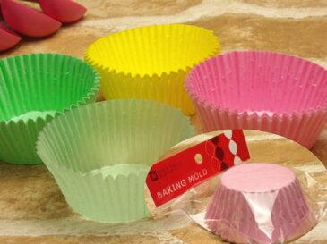 ベイクイージーカラーグラシンカップケーキ型(S) о製菓道具_お菓子作りアイテム_紙型
