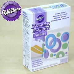 粘土状になったケーキデコレーションペーストWILTON(ウィルトン)ロールフォンダンホワイト【W...