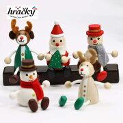 送料込【正規品】レスニーハラチキHrackyチェコ産木製人形5点セットサンタクロースHRA-MD9-AトナカイHRA-MD10-A/HRA-MD10-BスノーマンHRA-MD11-A/HRA-MD11-Bチェコ木製人形手のひらサイズクリスマスCristmasHoliday