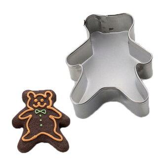 沒有不帶不帶餅乾的型kurisumasubea(熊)[聖誕節]/熊提高基本工資kumaо製造糕點工具_點心製作項目_餅乾型_動物_餅乾型_餅乾_抜型_不銹鋼_型_的型_禮物_聖誕節_餅乾型_餅乾_型_樂天郵購[05P03Dec16]