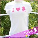 【セール】【HAPA STYLE】 ハパスタイルオリジナルレディースTシャツLUV PINK 2Hawaii ハワイ雑貨 ハワイアン