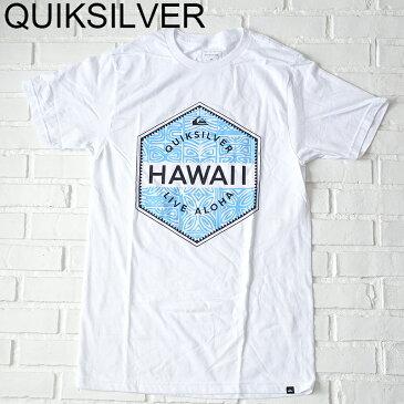 QUIKSILVER ハワイ限定Tシャツ QUIKSILVER HI TEMPLE RUNS TEE WHITE クイックシルバーハワイ限定メンズTシャツHawaii ハワイ雑貨 ハワイアンハワイ買い付け ハワイ限定 ハワイアン雑貨