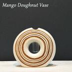 マンゴー花瓶「Mango Vase」Doughnut Vase 【処分市 ハワイ 雑貨】ハワイアン雑貨【ハワイアン】【マンゴーウッド】【花さし】