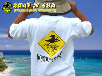 サーフアンドシー Kids North Shore X-ing T shirt