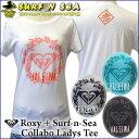 【値下げしました】【Roxy】&【SURF-N-SEA】【ロキシー】【サーフアンドシー】Roxyコラボ レディースTシャツ『CREST CREW HALEIWA』SNSRoxy COLABO TEE ハワイアン】【ハワイアン】【ハワイアン】