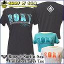 【値下げしました】【Roxy】&【SURF-N-SEA】【ロキシー】【サーフアンドシー】Roxyコラボ レディースTシャツ『UNDER THE PALMS CREW HALEIWA』SNS Roxy COLABO TEE 【ハワイアン】【ハワイアン】【ハワイアン】 その1