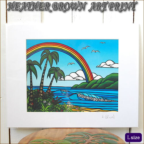 ART PRINT L ANUENUE(Over the Rainbow)へザー ブラウン・...