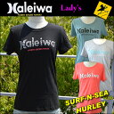 【SURF-N-SEA】【HURLEY】レディースTシャツ NEWカラーサーフアンドシー&ハーレーコラボTEE『HALEIWA4』Hawaii ハワイ雑貨 ハワイアン