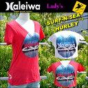 【SURF-N-SEA】【HURLEY】レディース NEW  VネックTシャツサーフアンドシー&ハーレーコラボTEE 『HALEIWA4』【Hawaii】【処分市 ハワイ 雑貨】【ハワイアン】ハワイアン雑貨 その1
