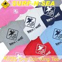 【SURF-N-SEA】サーフアンドシー・Kids ワンカラーX-ing TシャツHawaii ハワイ雑貨 ハワイアン