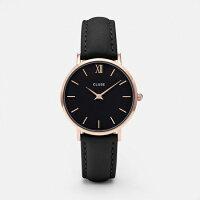 【日本公式品】CLUSE腕時計クルースMinuitレザーローズゴールド33mm径全13色