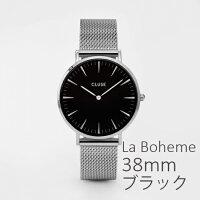 CLUSEクルース腕時計LaBoheme(ラ・ボエーム)メッシュブラックCL18110