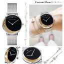 アレットブラン ALETTE BLANC 腕時計 レディース クレセントムーン セット (Crescent Moon set) スワロフスキー 全2色 ブレスレットセット 2年保証付 3