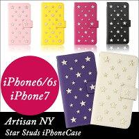 【手帳型iPhone6/6s・iPhone7ケース】ARTISANNY大人かわいいスタースタッズスマホケースStarStudsiPhoneCase全6色
