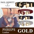 【日本公式品】Paul Hewitt ポールヒューイット PHREPS (フェレプス) レザー アンカーブレスレット 金具色:ゴールド KAPTEN & SON(キャプテン&サン)好きにも