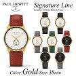 【日本公式品】Paul Hewitt ポールヒューイット 腕時計 Signature Line (シグネチャーライン)レザー 金具色:ゴールド KAPTEN & SON(キャプテン&サン)好きにも