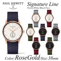 PaulHewittポールヒューイット腕時計SignatureLine(シグネチャーライン)Perlonストラップ金具色:ゴールドKAPTEN&SON(キャプテン&サン)好きにも