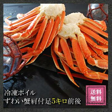 【調理簡単!節電対策にも】送料無料!【訳あり】ボイルずわい蟹肩付脚5kg前後(20〜30肩)