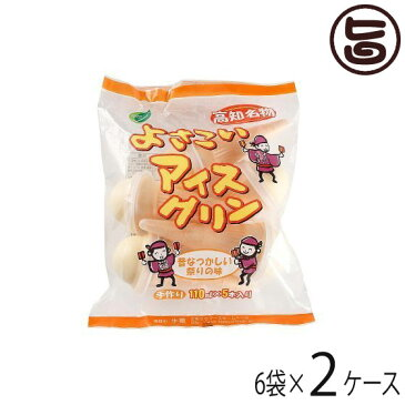 よさこいアイスクリン 110ml×5本入×6袋×2ケース 条件付き送料無料 高知県 四国 デザート 懐かしい