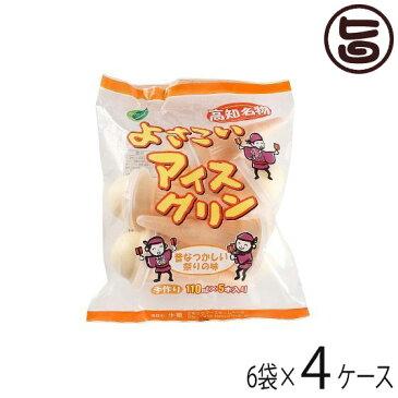 よさこいアイスクリン 110ml×5本入×6袋×4ケース 条件付き送料無料 高知県 四国 デザート 懐かしい