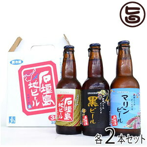 地ビール 3種セット(ヴァイツェン,マリンビール,黒ビール) 330ml×各2本セット お土産 お歳暮 贈り物 贅沢 条...
